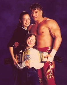 Eddie and his daughters in 2002. He loved his family and God more than anything.